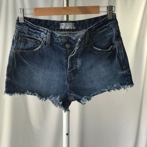 Free People Button Fly Cut Off Shorts
